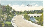 Click here to enlarge image and see more about item p4969: Cleveland OH Gordon Park Lagoon Postcard 1918