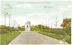 Click here to enlarge image and see more about item p4973: Canton OH Monument Park Postcard 1910