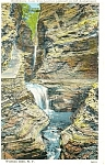Watkins Glen NY Minnehaha Falls  Postcard