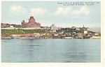 Click here to enlarge image and see more about item p5036: Quebec City Canada General View  Postcard p5036
