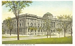 Milwauke WI Public Library  Postcard  1926