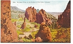 Click here to enlarge image and see more about item p5110: Garden of the Gods CO Postcard