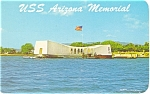 Click here to enlarge image and see more about item p5126: USS Arizona Memorial Pearl Harbor HI Postcard p5126