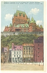 Click here to enlarge image and see more about item p5127: Chateau Frontenac Quebec Canada Postcard p5127