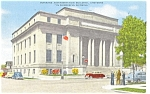 Click here to enlarge image and see more about item p5136: VA Building Cheyenne WY Postcard p5136 Cars 40s