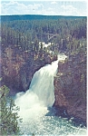 Upper Falls Yellowstone River WY Postcard p5140