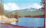 Sylvan Lake Yellowstone River  WY Postcard p5141