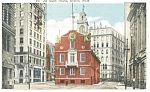 Old State House in Boston MA Postcard p5159