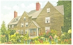 House of Seven Gables in Salem MA Postcard