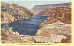 Click here to enlarge image and see more about item p5183: Lake Mead In Black Canyon AZ Postcard p5183