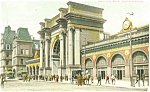 Click here to enlarge image and see more about item p5194: North Station, Boston MA Postcard 1908