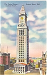 Click here to enlarge image and see more about item p5197: Custom House Boston MA Postcard p5197