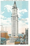 Click here to enlarge image and see more about item p5198: Custom House Tower Boston MA Postcard p5198