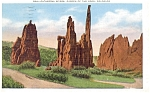 Click here to enlarge image and see more about item p5283: Cathedral Spires Garden of Gods CO  Postcard