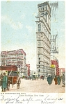 New York City Times Building Postcard