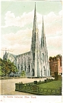 New York City St Patrick s Postcard p5322 1908