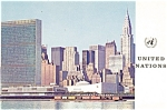 United Nations Headquarters New York City North View Postcard p5330