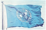 Click here to enlarge image and see more about item p5334: United Nations Flag Postcard p5334