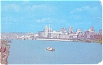 Click here to enlarge image and see more about item p5349: Pittsburgh PA Skyline Postcard p5349