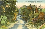 Easton PA View Along The Bushkill Postcard p5351