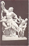 Chicago IL Laokon of Troy Sculpture Postcard
