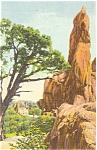 Click here to enlarge image and see more about item p5439: Garden of The Gods Colorado Postcard