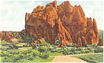 Click here to enlarge image and see more about item p5441: Garden Of The Gods CO North Gate Rock Postcard p5441