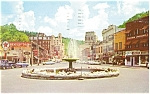 Hot Springs AR Crystal Fountain Postcard