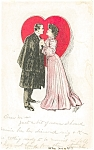 Click here to enlarge image and see more about item p5471: Vintage Valentines Day Postcard p5471 1907