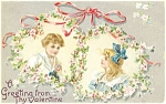 Click here to enlarge image and see more about item p5472: Vintage Valentines Day Tuck s Postcard p5472