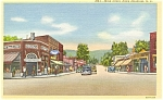 Black Mountain NC Main Street Postcard p5476