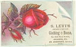 Click here to enlarge image and see more about item p5593: Trade Card Sol Levi's Clothing and House
