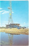 Wildcat Oil Rig in Texas Postcard