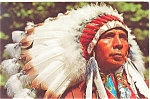 Click here to enlarge image and see more about item p5722: Indian Chief Postcard p5722