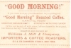 Click to view larger image of Victorian Trade Card Good Morning Coffee (Image2)