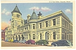 Click here to enlarge image and see more about item p5841: Augusta ME Post Office p5841  Vintage Cars  30s