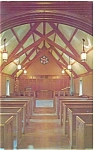 Click here to enlarge image and see more about item p5849: University of Indiana Beck Chapel Interior Postcard p5849