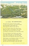 Click here to enlarge image and see more about item p5856: A Call To Montana Postcard p5856