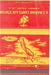 Click here to enlarge image and see more about item p5879: US Marines Air Station Cherry Point NC WWII Matchbook