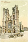 Click here to enlarge image and see more about item p5890: Brussels Eglise Sainte Gudule  Postcard
