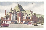 Click here to enlarge image and see more about item p5894: Quebec, Canada Union Station Vintage Cars Postcard
