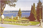 Click here to enlarge image and see more about item p5933: Island of Orleans Bridge Quebec Canada  Postcard