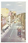 Click here to enlarge image and see more about item p5935: St Johns Street Quebec Canada Cars 50s Postcard p5935
