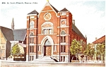 Click here to enlarge image and see more about item p5987: Denver Colorado St Leo's Church Postcard