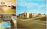 Click here to enlarge image and see more about item p6008: Visalia Inn Motel CA  Postcard