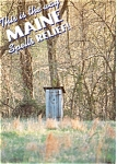 Click here to enlarge image and see more about item p6050: Maine Outhouse Humor Postcard p6050