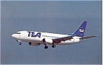 TEA Boeing 737 Postcard p6089