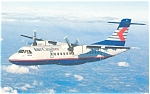 Click here to enlarge image and see more about item p6104: Intair Quebec ATR 42 Postcard p6104