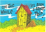 Click here to enlarge image and see more about item p6127: Outhouse Humor Postcard
