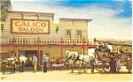 Knott's Berry Farm Calico Saloon Postcard p6170